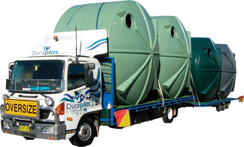 Rainwater Tank Delivery Truck
